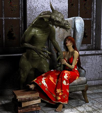 Sárkány őrzi a királylányt a toronyban