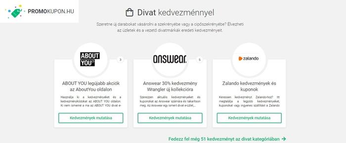 PromoKupon.hu divat kuponjai